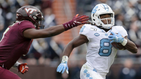 UNC battles Virginia Tech in ACC football action
