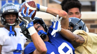 Duke quarterback excited about play of receivers