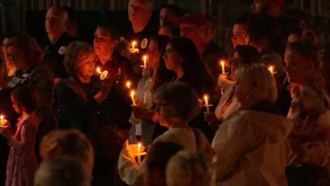 Hundreds gather in Holly Springs for LGBT teen killed in NC 55 accident