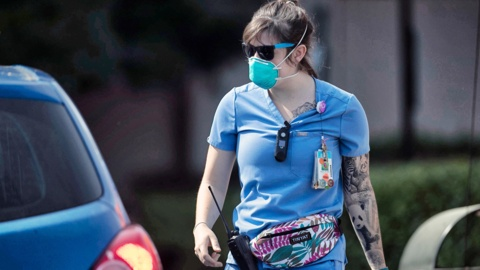 'You're a meme now.' A UNC nurse becomes the symbolic face of the coronavirus fight.