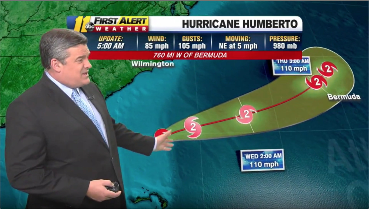 With Tropical Storm Humberto strengthening to hurricane how will Carolinas be impacted?