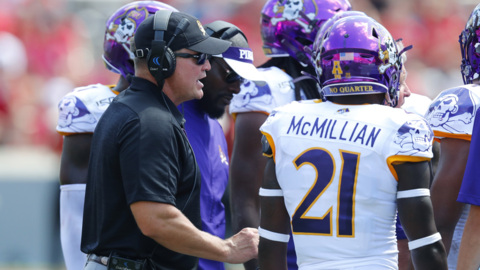 ECU's Houston talks about the Pirates loss to NC State