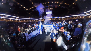 Experience in 360 degrees as UNC takes the court before the Tar Heels game against Duke
