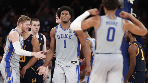 Duke takes down Cal in Madison Square Garden in NCAA basketball action
