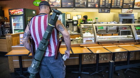 After photos of armed customers in Raleigh go viral, Subway changes open carry policy