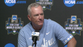 UNC's Mike Fox on the win over Oregon State and the injury to pitcher Luca Dalatri