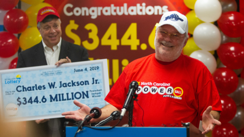 Does NC's largest lottery winner want to give you $4 million? Don't bank on it.