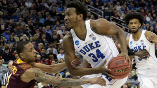 Duke's Wendell Carter,Jr. talks about his injury and first NCAA tourney game
