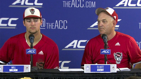 NC State's Elliott Avent and Will Wilson talk about the positives after the loss to FSU