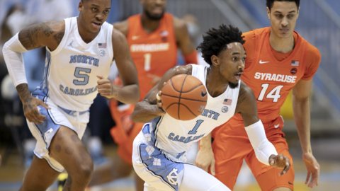 UNC and Syracuse battle in ACC basketball action