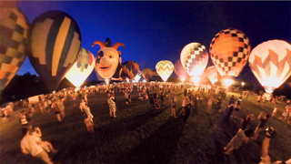 Experience in 360 degrees the Freedom Balloon Fest