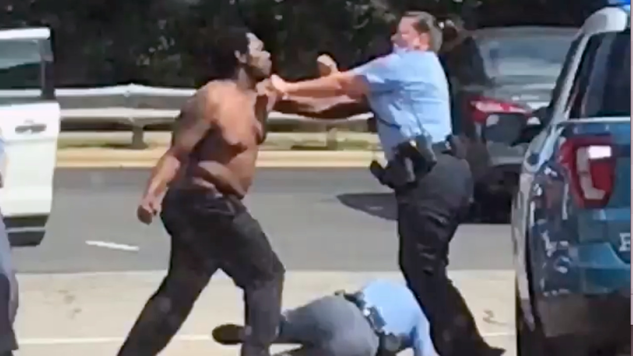 Police Cars For Sale >> Videos show Raleigh police officers beating man in the street after he swings at them | News ...