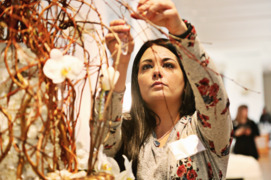 Blooms mimic art at NCMA's Art in Bloom exhibit in Raleigh