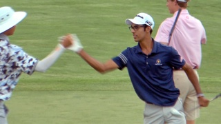 See Akshay Bhatia's miraculous, tournament-winning shot