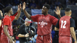 NC State gets ready for its NCAA Tournament game against Seton Hall