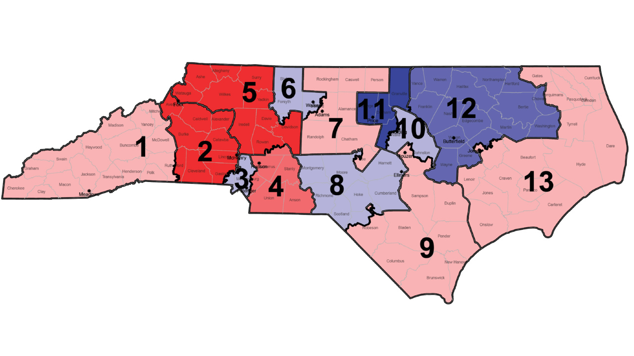 Nc Redistricting Court Hints At Possible Replacement Congressional - Map-of-us-voting-districts