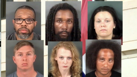 Undercover sting nets 11 arrests for human trafficking, prostitution, NC sheriff says
