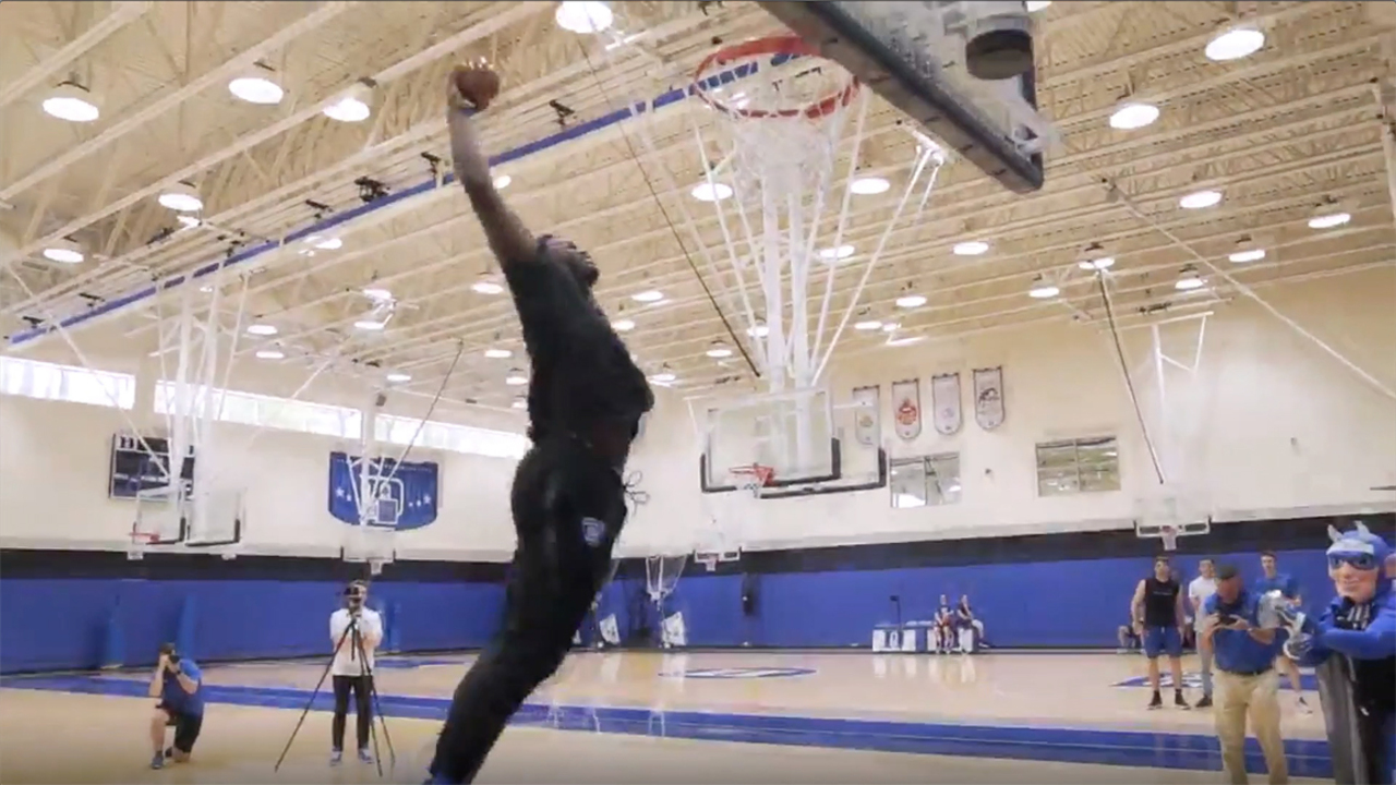 Boy or girl? Zion's dunk creates baby gender reveal moment for NC couple, video shows