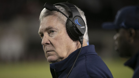 Mack Brown following overtime loss at Virginia Tech: 'I haven't been in anything this crazy'