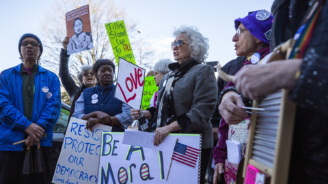 'Our country does not deserve to be held hostage' – Raleigh protest precedes Trump speech