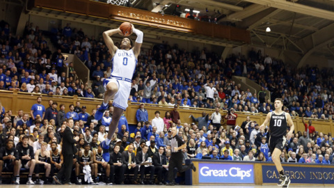Duke's Moore on playing in Cameron without fans