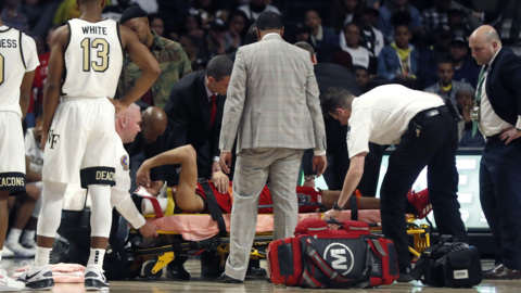 NC State win ends with 'scary' fall for Jericole Hellems