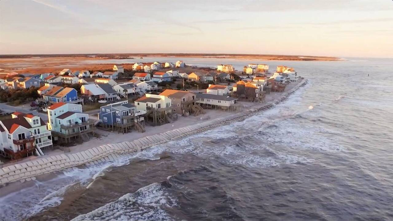 Rising seas are eroding coastal property values
