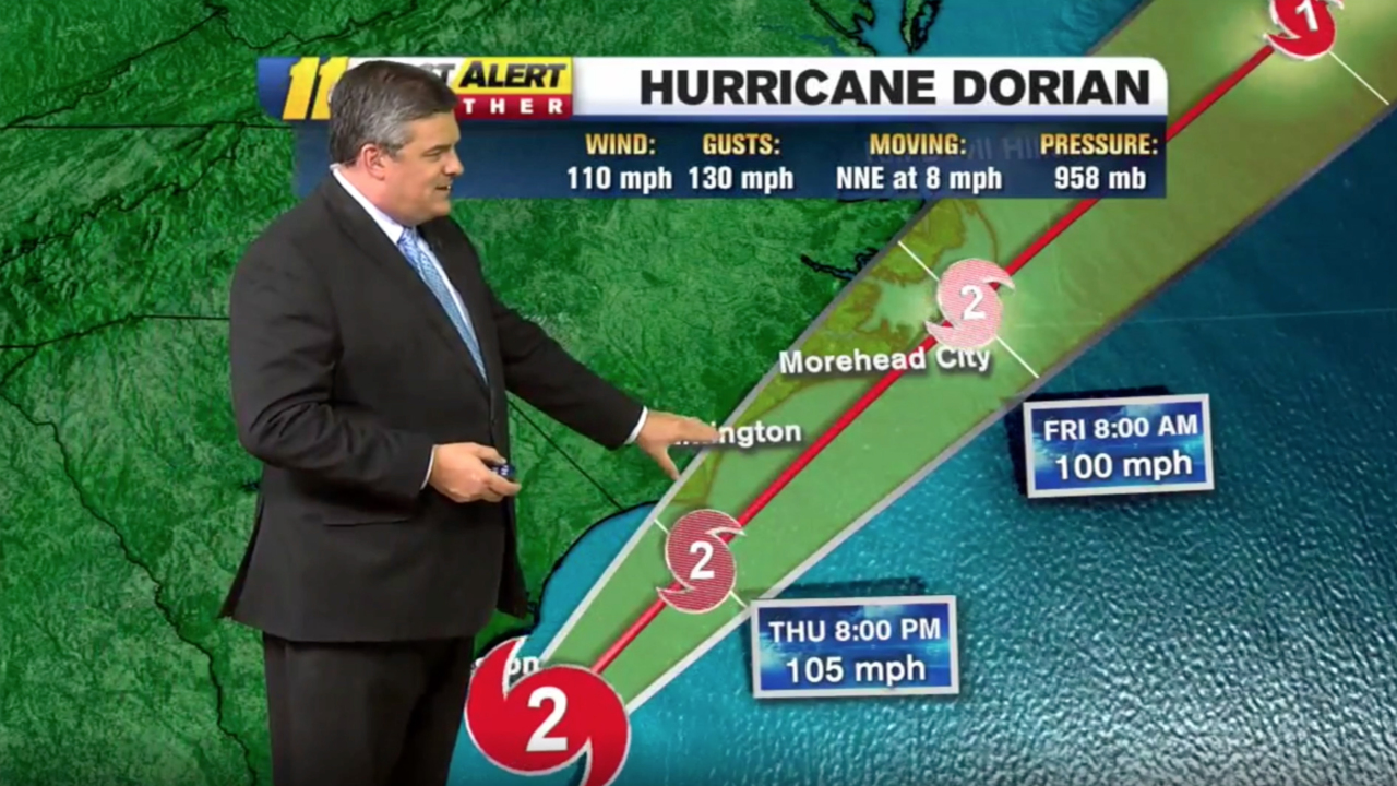 Tropical storm warning issued for Wake County as Hurricane Dorian moves toward NC