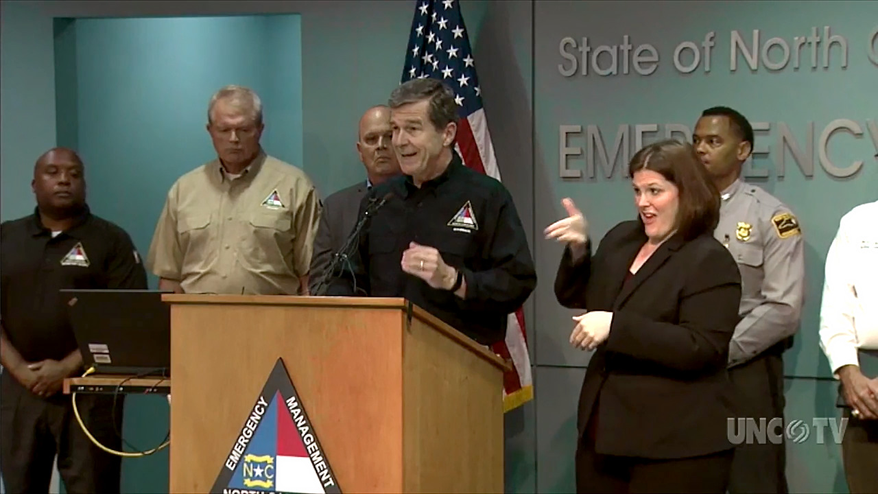 NC Gov  Cooper: 'Deadly' Hurricane Florence remains a threat