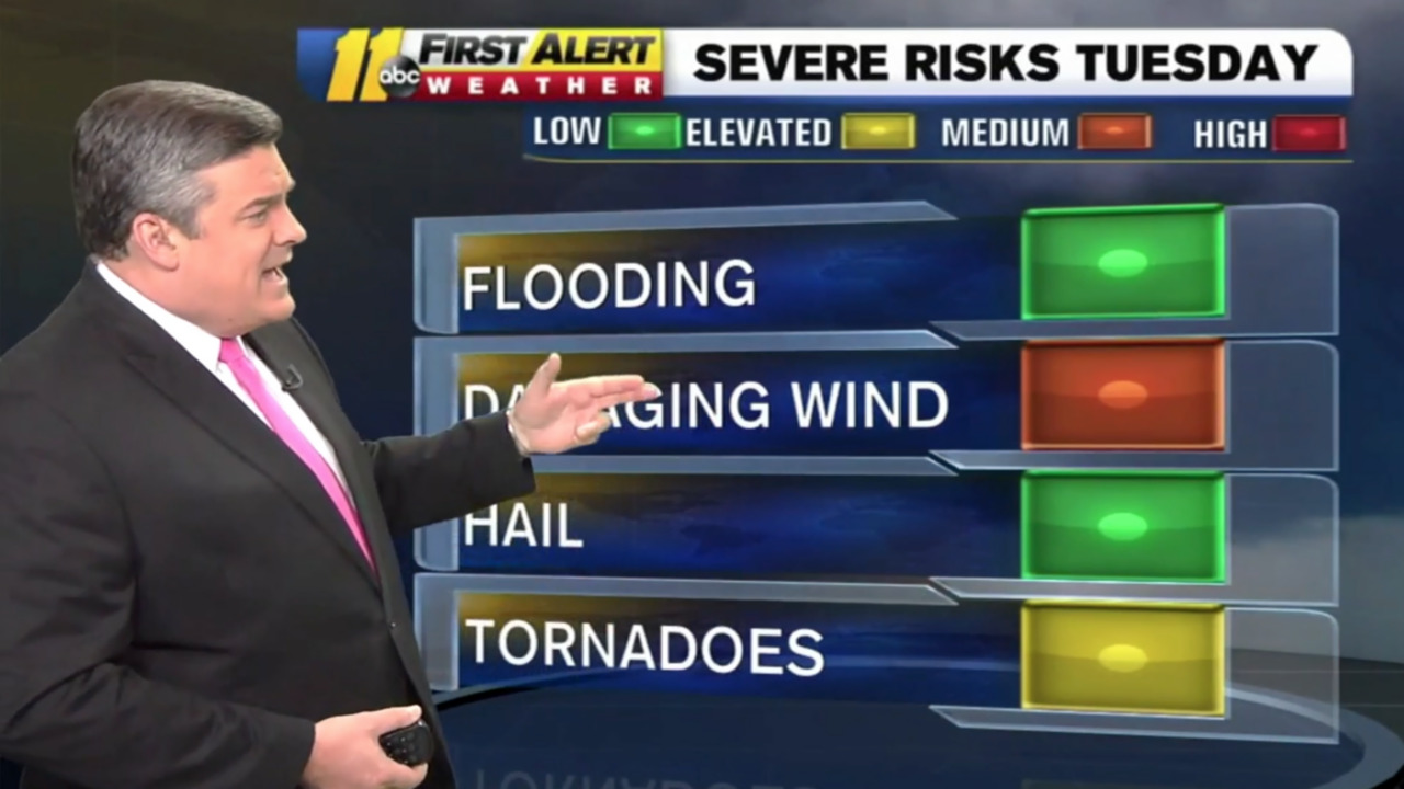 Severe weather predicted for the Triangle on Tuesday. Could that mean a tornado?