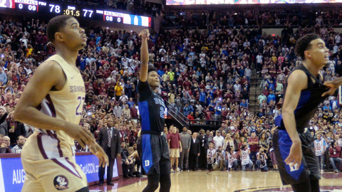 Duke's Cam Reddish talks about his last second shot that beat Florida State