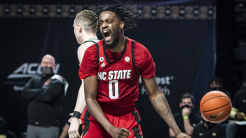 Images from NC State's ACC basketball victory over Wake Forest