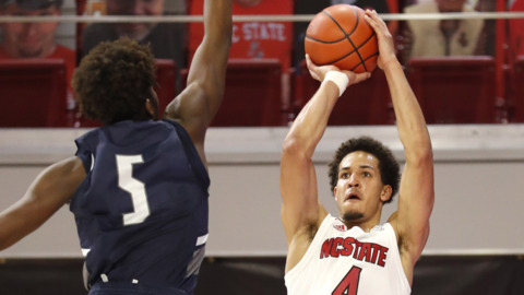 NC State battles North Florida in basketball action