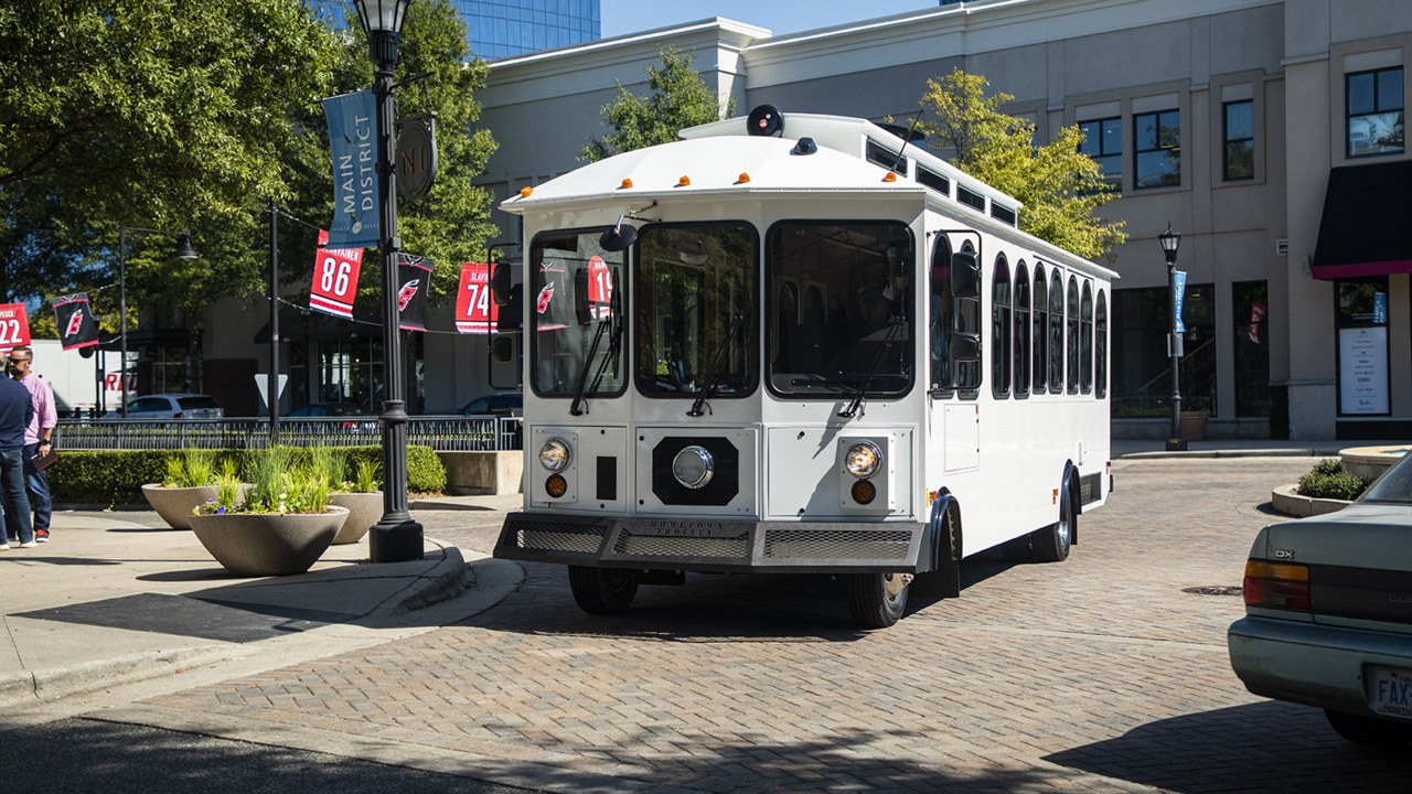 North Hills wants you to ride its new shuttle bus for free. Just don't call it a trolley.