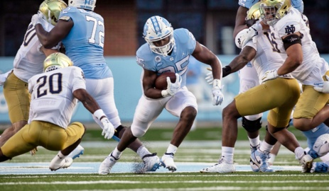 UNC battles Notre Dame in ACC football action