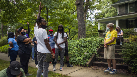 Durham protesters take their demands to mayor's house for 'honest conversation'