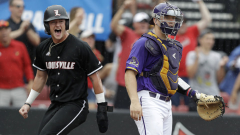 East Carolina opens super regional with 14-1 loss at Louisville