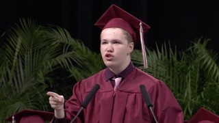 Student with autism who rarely speaks inspires with his moving graduation speech