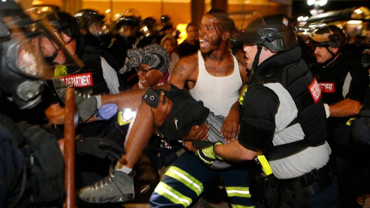 437b92361abc Charlotte police protest  One fatally shot in second night of unrest ...