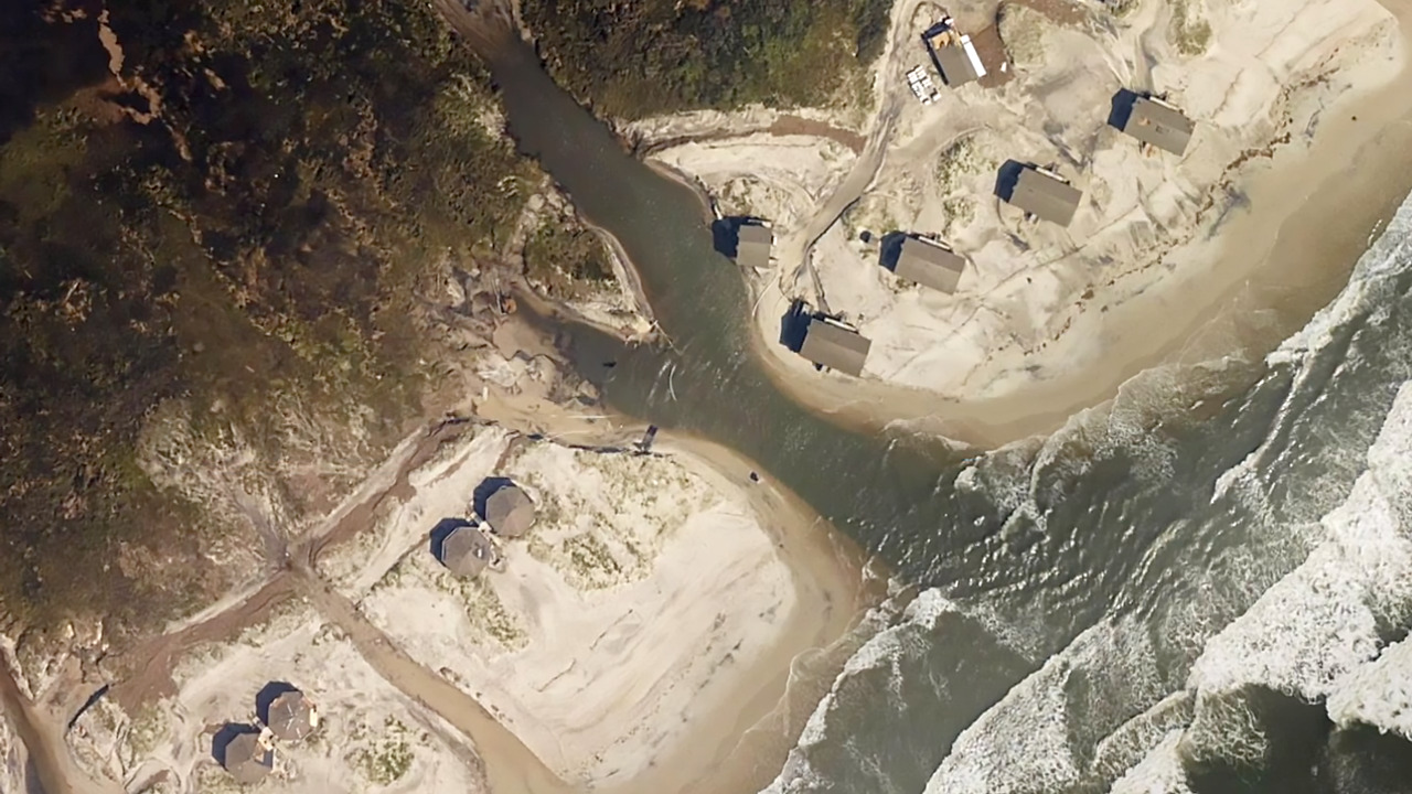 Hurricane Dorian reshaped Cape Lookout with 54 new inlets, causing damage and closures