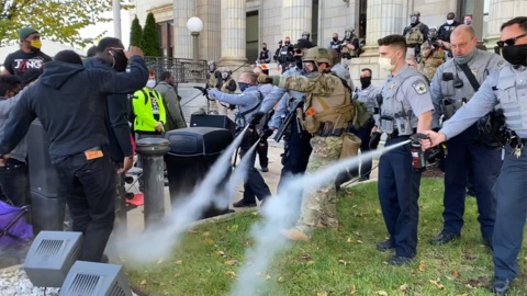 The pepper spraying of marchers by Alamance officers calls out for investigations