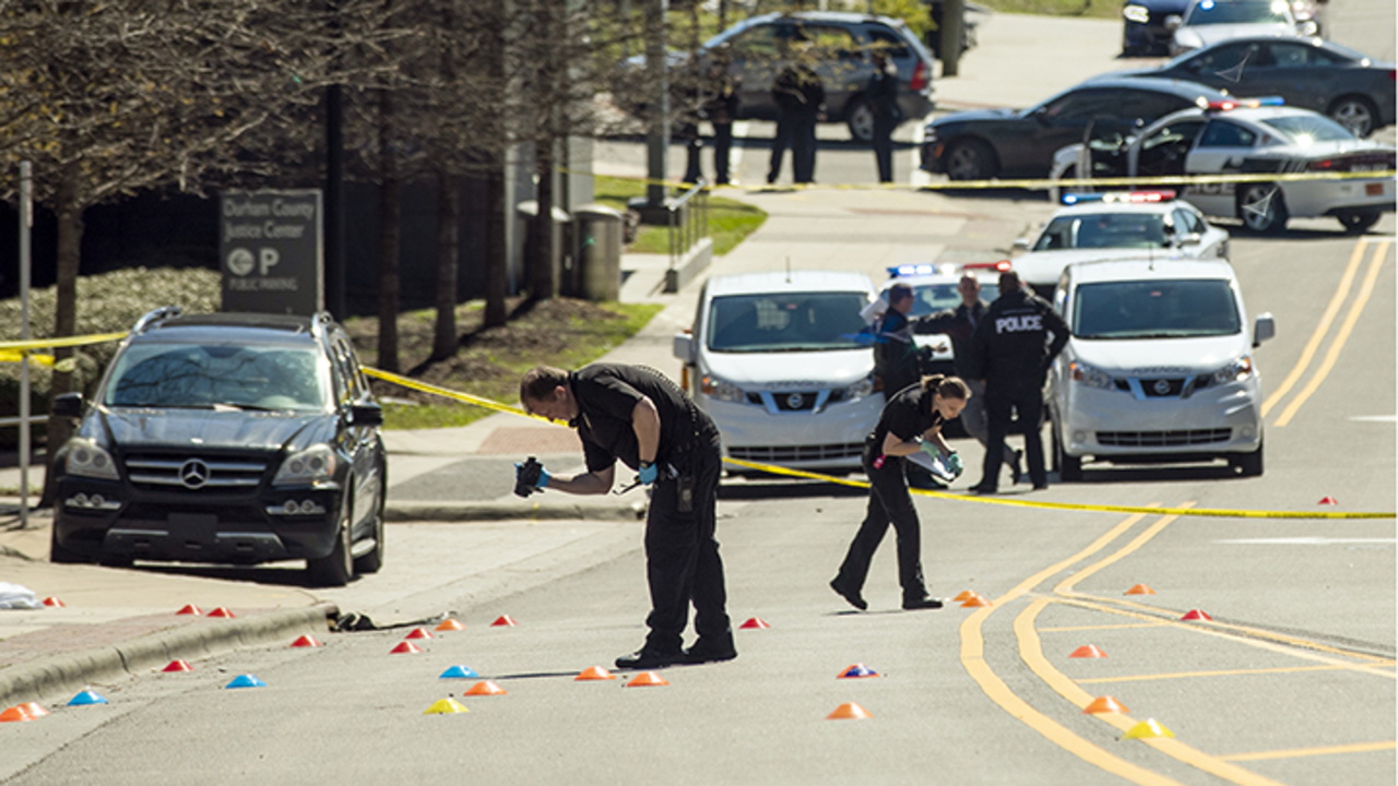 Getaway car driver pleads in 'brazen' shooting outside Durham County courthouse.