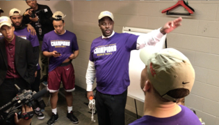 Watch Coach LeVelle Moton's emotional words to his team after MEAC championship