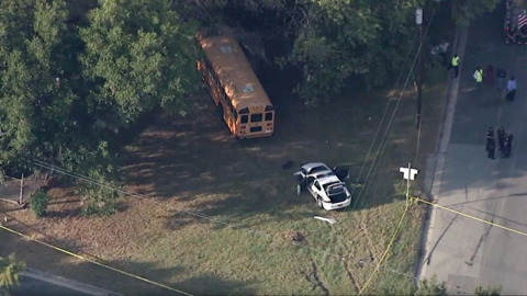 5 children, police officer injured in Durham crash between police car and school bus