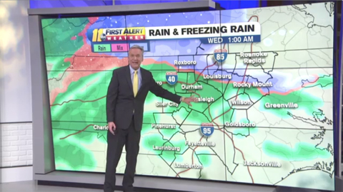 Parts of the Triangle could see freezing rain Wednesday morning