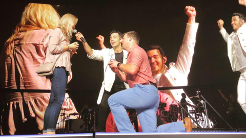The Jonas Brothers played in Raleigh. But a surprise proposal nearly stole the show.