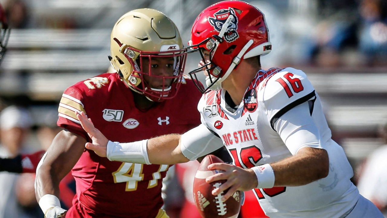 The positive in NC State's lopsided loss at Boston College? Look to QB Devin Leary.