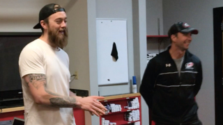 Canes' Darling talks with young hockey campers