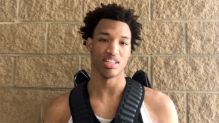 Team CP3 forward Wendell Moore, Jr. talks about playing against Jalen Lecque at the EYBL Peach Jam