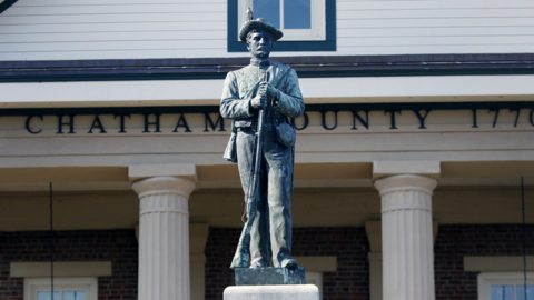 Chatham's Confederate statue in Pittsboro to come down, board decides at rowdy meeting